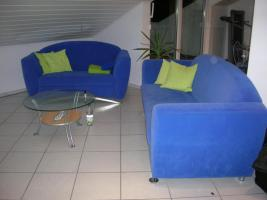Foto 3 2-teilige Couchgarnitur in blau