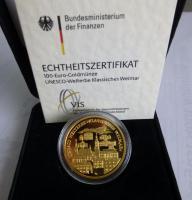 Foto 2 2 x 100 Euro Goldmünze Goslar 2008