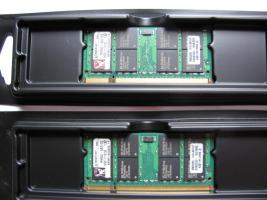 2 x KINGSTON Laptop DDR2 RAM