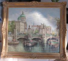 Foto 7 2 x Öl- Gemälde vom H. Hartung, 1x Landschaft, 1x Berliner- Schloss- Brücke( signiert)
