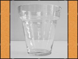 2 x Vase, Pflanzgefäß, Windlicht, Glasgefäß - Blumentopfform