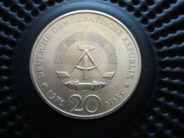 Foto 2 20 DDR Mark 1971 Neusilber