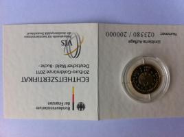 20 Euro Goldmünze Buche mit Zertifikat