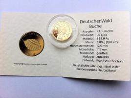 Foto 2 20 Euro Goldmünze Buche mit Zertifikat
