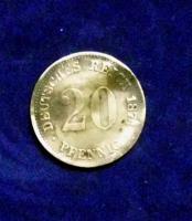Foto 2 20 Pfennig Kaiserreich von 1874