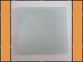 20 x Teller, Quadrat oder Rund, Mattglas, Handarbeit (20 cm)