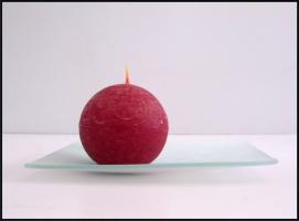 Foto 2 20 x Teller, Quadrat oder Rund, Mattglas, Handarbeit (20 cm)
