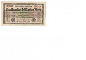 200 Milliarden Mark Reichsbanknote 15 okt. 1923