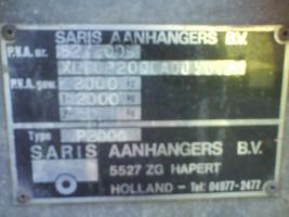 Foto 8 2000 kg Saris PKW Anhänger Hochlader Tandem 1.Hd / Tüv 08.2012