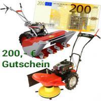 200, - € Gutschein für Onlineshop auf Kreiselmäher, Balkenmäher, Hochgrasmäher