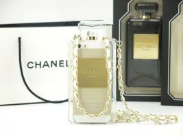 2014 Chanel Parfüm-Flaschen  Hülle mit kette für Iphone 4S/5