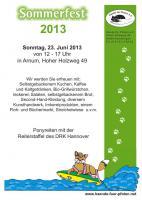23.06.: Sommerfest bei Hände für Pfoten (Tierschutz)