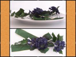 24 x Tischdekoration Blumen