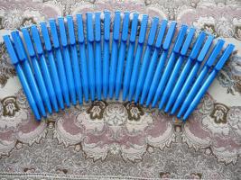 25 neue Kugelschreiber Blau Mit Werbung Actebis