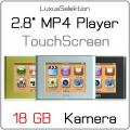 2.8   MP4 TOUCH Player JXD 803 * 18 GB Speicher * 2 MP Camcorder + Kamera * Ebook Reader * Kalender * TV-IN * TV-OUT * NEU + OVP