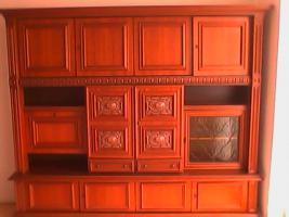 Foto 4 2tlg Wohnzimmer Schränke aus Nußbaum