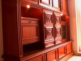 Foto 7 2tlg Wohnzimmer Schränke aus Nußbaum