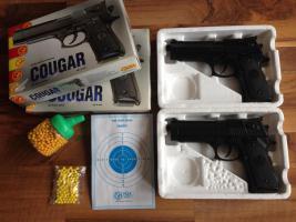 2x Cougar Softair Pistole