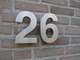 3-D Edelstahl Hausnummer