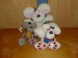 3 Diddl-Plüschfiguren