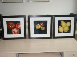 3 er Set Obst und Gemüse Bilder