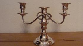 3 armiger Kerzenhalter Silber ca. 1930