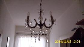 Foto 2 3-flammiger Leuchter mit Glastropfen