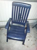 Foto 3 3 stabile Gartenstühle von Sieger + 1 blauer Stuhl+ wer mag 3 Auflagen