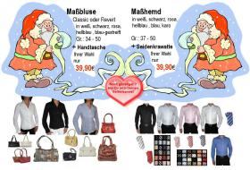 30 Jahre - Maßblusen + Handtaschen + Maßhemden + Seidenkrawatten - Designer-Mode zu Outletpreisen