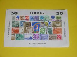 30 verschiedene Briefmarken aus Israel