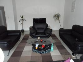 3+2+1 Sitzgarnitur Schwarz Kunstleder