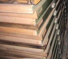 38 Stück Setzkästen / Setzkasten aus Buchenholz
