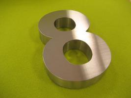 3D Edelstahl Hausnummer