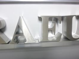 Foto 7 3D Hausnummer in Edelstahl-Gebürstet 190cm x 4 cm