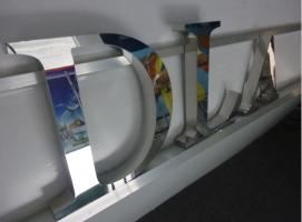 Foto 9 3D Hausnummer in Edelstahl-Gebürstet 190cm x 4 cm