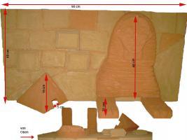 "3D Terrarium Rückwand ""Sphinx""  mehrere Größen 1 Preis"
