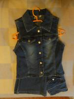 3er Set Jeans Weste, Hose, Shirt Gr. 158