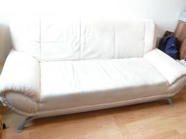 3er Sofa Altara Nubuk Bezug elfenbein, Couch Anlieferung in Lpz.