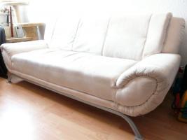 Foto 2 3er Sofa Altara Nubuk Bezug elfenbein, Couch Anlieferung in Lpz.