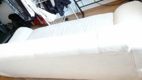 Foto 3 3er Sofa Altara Nubuk Bezug elfenbein, Couch Anlieferung in Lpz.