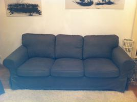 3er Sofa / Ektorp / Bezug: Svanby grau / Top Zustand / fast neu
