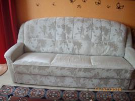 3er sofa mit schlaffunktion und 1 sessel