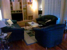 Foto 2 3teilige Couchgarnitur in Textilleder
