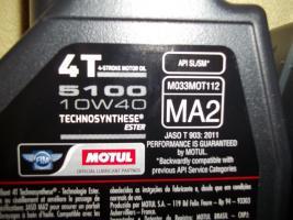 Foto 3 3x MOTUL 5100 4T ESTER teilsynthetisch 10W40 MA2 4-Takt Motoröl