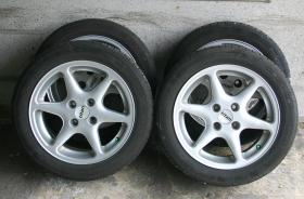 4 Alufelgen mit Reifen für Opel Astra F Caravan
