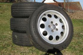 4 Original Audi Alu-Felgen mit Conti Reifen für Audi