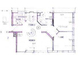 Foto 3 4-Zi-DG-Maisonette-Wohnung in Aichtal-Gr�tzingen mit Sichtgeb�lk, 2 Designerb�dern, Kaminofen