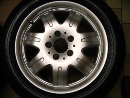 Foto 2 4 gebrauchte Michelin Primacy Pilot Sommerkompletträder SLK Mercedes Benz  incl. 7 Speichen Leichtschmiedefelge 16 Zoll