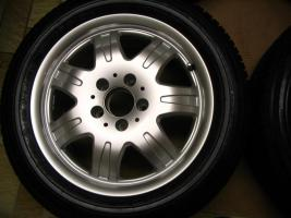 Foto 3 4 gebrauchte Michelin Primacy Pilot Sommerkompletträder SLK Mercedes Benz  incl. 7 Speichen Leichtschmiedefelge 16 Zoll