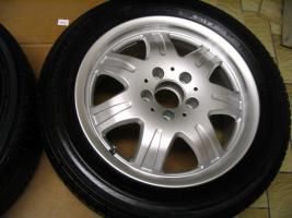 Foto 5 4 gebrauchte Michelin Primacy Pilot Sommerkompletträder SLK Mercedes Benz  incl. 7 Speichen Leichtschmiedefelge 16 Zoll